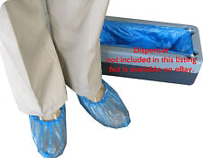 100 Disposable Overshoes Shoe Covers use with or without Easy Use DISPENSER