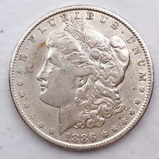 1886 MORGAN SILVER DOLLAR 90% SILVER $1 COIN US #Q66