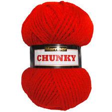 Robin Chunky Yarn Shade 42 Cherry Red 100g Ball 100 Acrylic