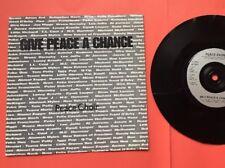 """UK 1991 Tribute John Lennon Peace Choir Give Peace A Chance Vinyl 7"""" 45 Yoko Ono"""