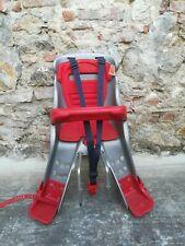 Seggiolino porta bimbi per bici anteriore Orion Ok Baby rosso / grigio max 15 kg