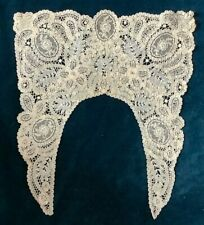 ANTIQUE LACE COLLAR, PANELS OF FLOWERS