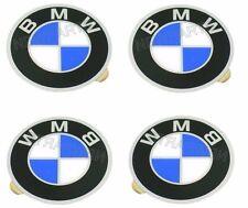 BMW E12 E23 E24 BAV Wheel Center Cap Emblems Set of 4 BRAND NEW GENUINE 57 mm