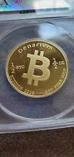Denarium bitcoin only 100 made!! .55oz of gold unfunded. Graded 69/70 by anacs