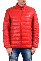 Emporio Armani EA7 Men's Red Duck Down Full Zip Light Parka Jacket