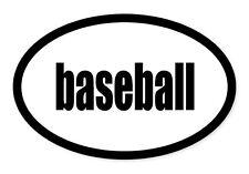 "Baseball Sport Oval car window bumper sticker decal 5"" x 3"""