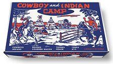 Marx Cowboy and Indian Camp Play Set Box