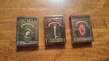 Set of 3 Bicycle Cthulhu Limited Edition Playing Card Decks New Sealed
