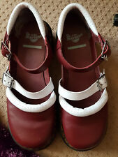 DR MARTENS LADIES RED/WHITE AGYNESS DEYN SHOES - SIZE UK 7