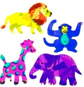 **SUPER RARE**   PRISMATIC ZOO ANIMALS Sandylion Stickers - 3 sq ~NOT IN PRINT~