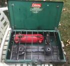 Vintage 1970 COLEMAN 425E Portable Two-Burner Gas Camp Stove Made In USA