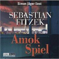"""SEBASTIAN FITZEK """"AMOK SPIEL"""" 4 CD BOX NEW"""