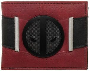 Deadpool Uniform BiFold Wallet, Marvel Anti-Hero Costume Style Wallet,ID Holder