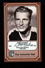DON HUTSON - ALABAMA - PACKERS Autographed 1975 Immortal Roll w/COA - Died 1997