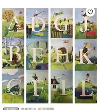 eeBoo All Around The Land Alphabet Wall Art Cards Complete