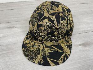 G Unit Heavyweight Vintage Cap Flat Peak 50 Cent Gold / Black - 7 1/8 Medium