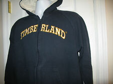 TIMBERLAND Boys FULL Zip Hooded Sweatshirt  Heavy Warm Navy  L 16-18