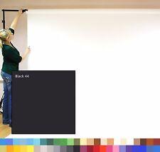 Nero (2.72m x 11m) senza soluzione di continuità Fotografia Sfondo rullo carta