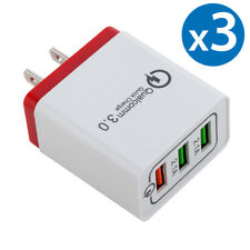 3-Pack USB Fast Charging Wall Charger Adapter Plug For iPhone Samsung Android LG