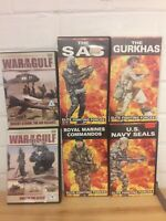 Elite Forces - VHS collection & War in the Gulf DVDs.Royal Marine Commandos,SAS