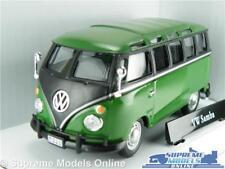 VOLKSWAGEN T1 CAMPER VAN BUS CAR VW 1:43 SIZE GREEN CARARAMA SPLIT SCREEN T4