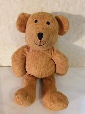 Vintage Mothercare Brown Teddy Beanie Toy Comforter