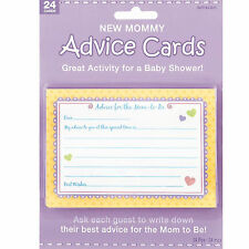 New Mommy Advice Cards Baby Shower Gender Reveal Party Games Activity Supplies