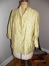 nwt coldwater creek green yellow jacket 1x