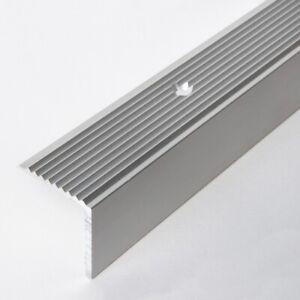Treppenprofil 30/30 mm Alu Winkelprofil Kantenleiste silber Teppichschiene