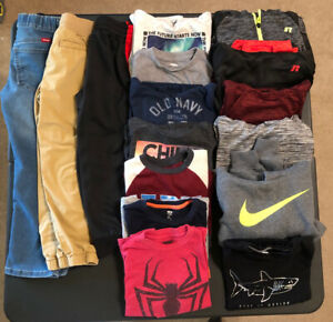 Large Lot Boys Kids Winter Clothes Size Small S 6 7 Shirts Pants Old Navy Nike