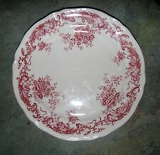 red pink transferware  VALERIA Villeroy & Boch toile Germany DESSERT SALAD PLATE