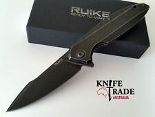 Ruike P128-SB Folding Pocket Knife Blue,Beta plus Lock Up System Sandvik14C28N
