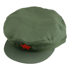 China Chairmen Mao PLA Red Army Soldier Red Star Canvas Cap Communist Party Hat