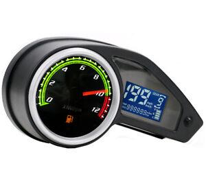 Waterproof Digital Speedometer Tachometer Fuel Gauge Odometer For Motorcycles