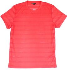 INC Mens T-Shirt Pink Size 2XL Short Sleep Mesh Ample Striped Tee $24 #088