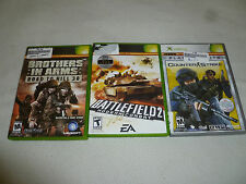 XBOX GAME LOT COUNTER STRIKE BATTLEFIELD 2 MODERN BROTHERS IN ARMS ROAD TO HILL