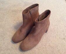 Ladies Unisa Karisa Kid Suede Leather Ankle Boots - Pale Brown/Beige-UK7 -New