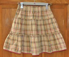 Girl's Skirt Size 5 by OshKosh Tan w/ assorted colors Cute Fantastic Condition