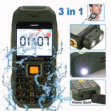 Unlocked Dustproof Waterproof Shockproof Rugged Torch Cam Dual SIM Cell Phone