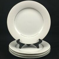 "Set of 4 VTG Salad Plates 8 1/4"" Noritake Whitehall Floral 6115 Platinum Japan"