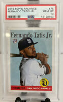 2019 Topps Archives FERNANDO TATIS JR #75 PSA 10 GEM MT Rookie Card