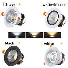 5W 7W 9W 12W 15W COB LED Recessed Ceiling Down Spot Light Lamp Bulb + Driver LTW