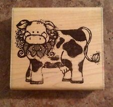 Cow - Wood Mounted Rubber Stamp
