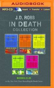 J D Robb In Death Collection 21 - 25 UNABRIDGED MP3-CD 57 Hours *NEW* FAST Ship!