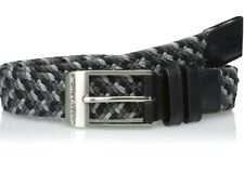 Under Armour Men's Braided Golf Belt, Black/Steel, Size 36