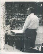 1956 New York Governor Averell Harriman Speaking in Champaign IL Press Photo