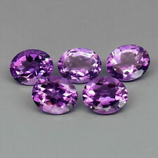 14.79 TCW 5pcs 11x9mm Natural Purple Bolivia AMETHYST for Jewelry Setting Oval