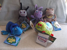 A Bug's Life Set Of 5 Plush Sound Heimlich Dot P.T. Flea Francis Dim W D W Tags