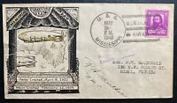 1940 USA USS Akron & Macon Airship zeppelin Memorial cover To Miami FL 1
