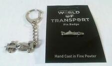 Formula One Racing Car Pewter Keyring And Pin Badge Gift Set